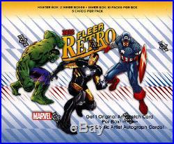 2015 Upper Deck Marvel Fleer Retro sealed 6-box CASE