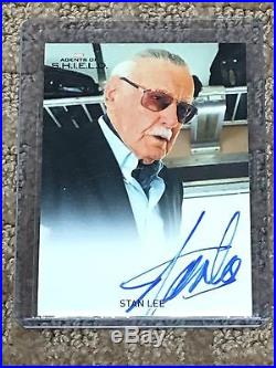 2015 (rittenhouse) Marvel's Agents Of Shield Stan Lee Autograph Card (look)