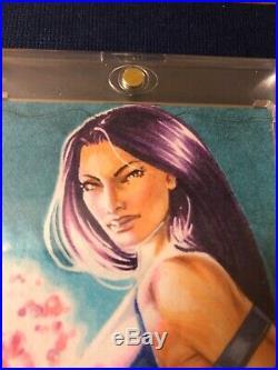 2016/2018 Marvel Masterpieces Sketch Card Psylocke By Rihanna Owens