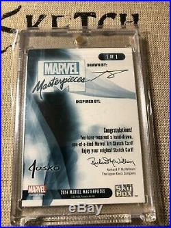 2016/2018 Marvel Masterpieces Sketch Wolverine/X-23/Psylocke By Norvien Basio