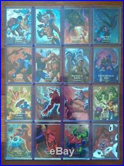 2016 Joe Jusko Marvel Masterpieces What if set 1-81 plus all three inserts