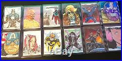2016 Marvel Masterpieces 12 SKETCH CARDS Various Artists