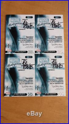 2016 Marvel Masterpieces 4 Panel AP Thanos Vs Avengers Sketch By Petraites Nm/Mt