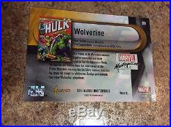 2016 Marvel Masterpieces Achievement WHAT IF Acetate 89 Wolverine SSP /15 VHTF