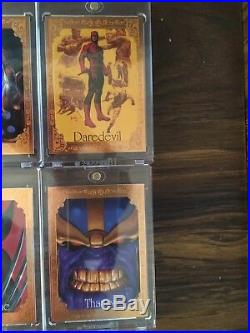 2016 Marvel Masterpieces Canvas Gallery Complete Set Venom Thanos Hulk /99