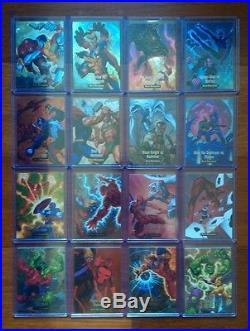 2016 Marvel Masterpieces Complete 17 Holofoil & 16 Battle Spectra Insert Sets Sp