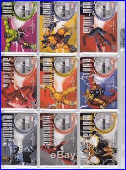 2016 Marvel Masterpieces Holofoil SPECKLE Complete Set 1-17 Cards /99