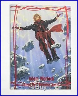 2016 Marvel Masterpieces Joe Jusko Adam Warlock Red Foil Base Parallel 1/1
