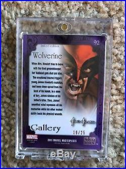 2016 Marvel Masterpieces Joe Jusko Red Foil Gallery Wolverine 19/25 NM/M