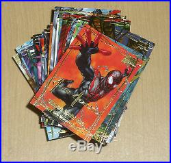 2016 Marvel Masterpieces Jusko 81-card base gold signature parallel set 1-81