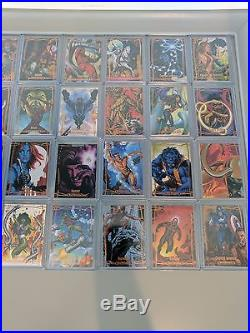 2016 Marvel Masterpieces ORANGE Set 1-90 High No. 82-90