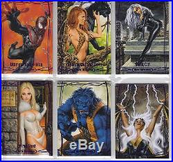 2016 Marvel Masterpieces PURPLE Epic 1-90 Set /199 Incl. High Number 82-90