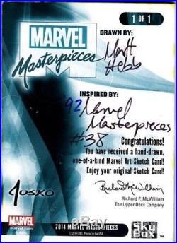 2016 Marvel Masterpieces Sketch IRON MAN by Matt Hebb (After Jusko MM 1992 #38)