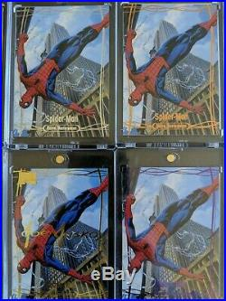 2016 Marvel Masterpieces Spiderman Master Set Both Autograph And Buyback Auto