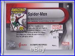 2016 Marvel Masterpieces What If #90 Spider-Man #05/50 True High # Low Serial