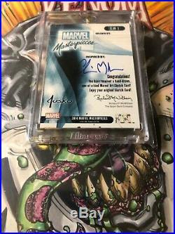 2016 Marvel Masterpieces sketch Chris Meeks Venom Vs Carnage
