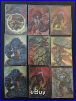 2016 Upper Deck Joe Jusko Marvel Masterpieces Mirage 9 Card Complete Set