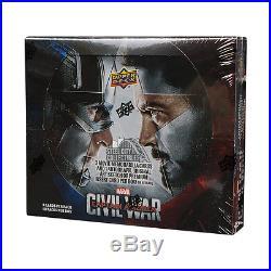 2016 Upper Deck Marvel Captain America Civil War Hobby 12-Box Case