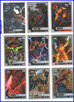 2016 Upper Deck Marvel Masterpieces 1-90 epic purple set plus chase (143 cards)