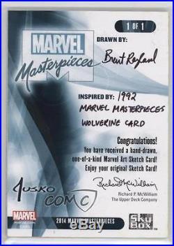 2016 Upper Deck Marvel Masterpieces Legacy Sketch Cards #4FU23 Brent Ragland 0c4