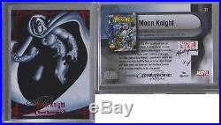 2016 Upper Deck Marvel Masterpieces Red Spectrum #31 Moon Knight 1/1 Card 5t2