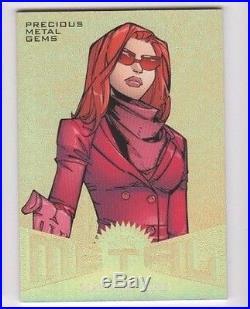 2017 Fleer Ultra Spider-man Marvel Metal Insert GOLD 3 Madame Web 1/1 WOW