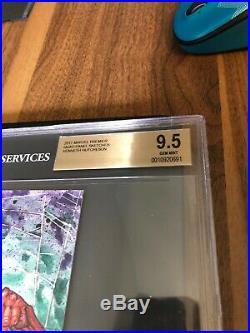2017 MARVEL PREMIER 4 PANEL SKETCH CARD Graded 9.5 Venom/Spider-Man Hutch