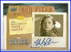 2017 Marvel Agent Carter Hayley Atwell as Peggy Carter SSR Files Auto/Autograph