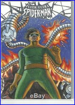 2017 Marvel Fleer Ultra Spider-Man Doctor Octopus Sketch Card Kris Penix