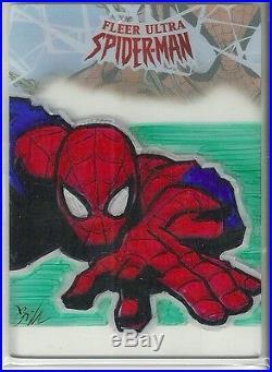 2017 Marvel Fleer Ultra Spider-Man Plexiglass Sketch Card William O'Neill