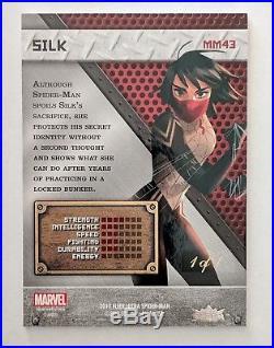 2017 Marvel Fleer Ultra Spider-Man Precious Metal Gems Gold Silk 1 of 1 MM43