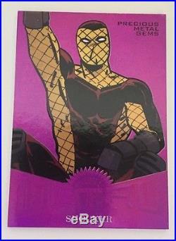 2017 Marvel Fleer Ultra Spider-Man Precious Metal Gems PMG Purple Shocker 3/5