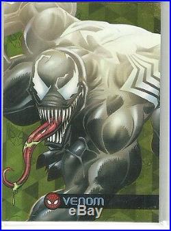 2017 Marvel Fleer Ultra Spider-Man Royal Foil Pattern 1 # GC15 Venom #ed 17 / 25