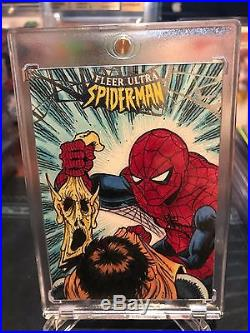 2017 Marvel Fleer Ultra Spider-Man Sketch Card After Romita 1/1 Auto Beautiful