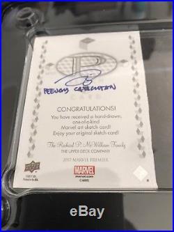 2017 Marvel Premier Doctor Octopus Sketch 1/1 Quad Panel Peejay Catacutan