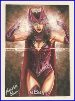 2017 Marvel Premier Dual-Panel Sketch Scarlet Witch / Vision Mick & Matt Glebe