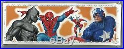 2017 Marvel Premier Quad Panel Avengers Deadpool Spider-Man Sketch by Bob Larkin