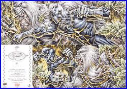 2017 Marvel Premier Sketch Card 4-Panel Quad Tan Black Panther vs. Man-Ape