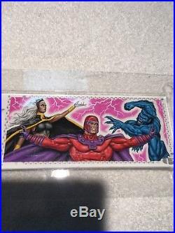 2017 Marvel Premier Sketch Card By Bob Larkin Quad Beautiful