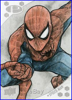 2017 Marvel Premier Sketch Card Spider-Man by Andre TOMA