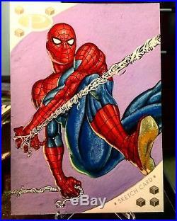2017 Marvel Premier Spider-Man Jumbo 5x7 Sketch Card By Jim Faustino