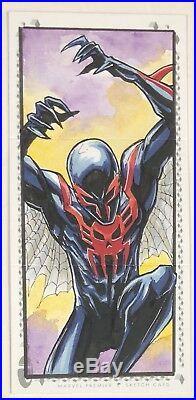 2017 Marvel Premier Triple-Panel Sketch Spider-Man 2099 by Glen Canlas