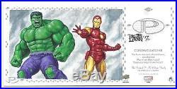 2017 Marvel Premier Triple Panel Sketch of Jean Grey Hulk Iron Man by Bob Larkin