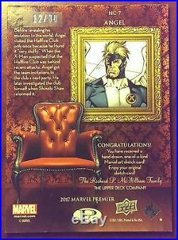 2017 UD Marvel Premier'Angel' HC-7 Hellfire Portrait Sketch Card by BOB LARKIN