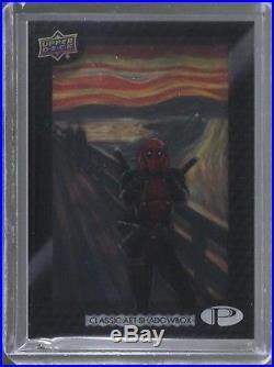 2017 UD Marvel Premier Classic Art Shadowbox Achievement card #3 DEADPOOL Scream