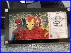 2017 UD Marvel Premier Sketch 5p Ironman, Wolverine, SpiderMan, Captain America