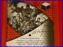 2017 Ud Marvel Premier Thor Vs Loki 1/1 Legendary Artist Signed 5x7 Sketch Vhtf