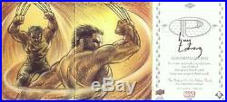2017 Upper Deck MARVEL Premier WOLVERINE 3-Panel Sketch Card 1/1 Huy Truong WOW