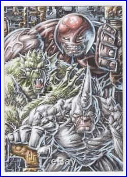 2017 Upper Deck Marvel Premier 5x7 Sketch Card Juggernaut Rhino by Anthony Tan