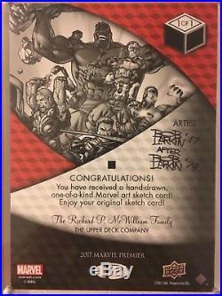 2017 Upper Deck Marvel Premier Bob Larkin Dazzler 5x7 Sketch Card MASTERPIECE